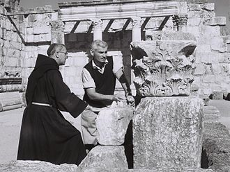 Jeff Chandler - Jeff Chandler at Capernaum during a visit to Israel in 1959