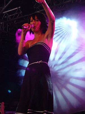 Finally Woken - Jem performing on the John Peel Stage at Glastonbury Festival on Sunday, 5 June 2005, after the success of her debut album in the United Kingdom