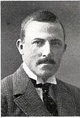 Portrett av Westly ca. 1916, mens han var hytteingeniør ved Sulitjelma Aktiebolaget Gruber