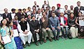 Jitendra Singh and the Minister of State (Independent Charge) for Information & Broadcasting, Shri Manish Tewari with the National Youth Awardees, at the inaugural function of the 18th National Youth Festival, at Ludhiana.jpg