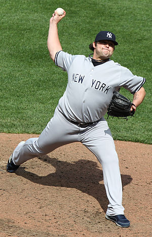 Joba Chamberlain - Chamberlain pitching for the Yankees in 2011
