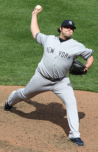 Joba Chamberlain - Chamberlain pitching for the Yankees in 2011