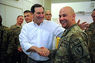 Joe Donnelly - Donnelly with U.S. service members of the International Security Assistance Force in Afghanistan