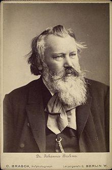Johannes Brahms (1889) (Quelle: Wikimedia)