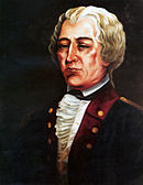 Painting of a middle aged man in a dark civilian coat with a white frilled shirt