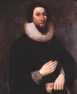 History of the Puritans under King Charles I - John Winthrop (1587/8-1649), Governor of the Massachusetts Bay Colony, who led the Puritans in the Great Migration, beginning in 1630.