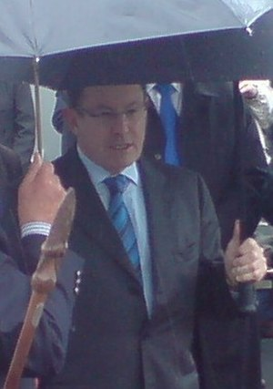 John Banks (New Zealand politician) - Image: John Banks At Opening Of Grafton Bridge cropped