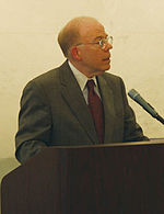 John Edward McLaughlin speaking on May 28, 2004.jpg