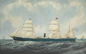 John Scott - Watts, Milburn & Co.'s steamship St. Osyth on her maiden voyage.jpg