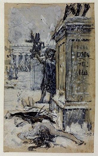 Saint Eulalia (Waterhouse painting) - Study for Saint Eulalia