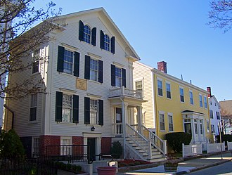 Frederick Douglass - The home and meetinghouse of the Johnsons, where Douglass and his wife lived in New Bedford, Massachusetts
