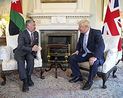 Johnson talks with King Abdullah II at Downing Street