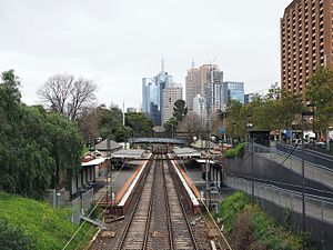 Jolimont railway station - Westbound view