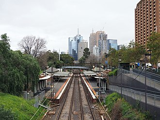 Jolimont railway station - Westbound view in August 2016