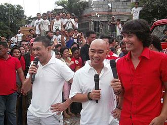 Kalyeserye - The main cast of the series, Jose Manalo, Wally Bayola and Paolo Ballesteros who play various roles.
