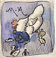 Joseph Crawhall - White Hen And Chickens.jpg