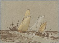 Shipping, c. 1828-30, watercolor on paper, Yale Center for British Art