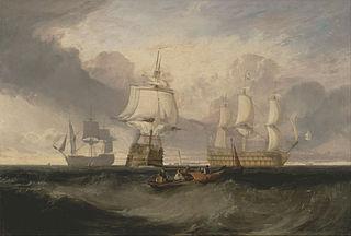 The Victory Returning from Trafalgar, in Three Position