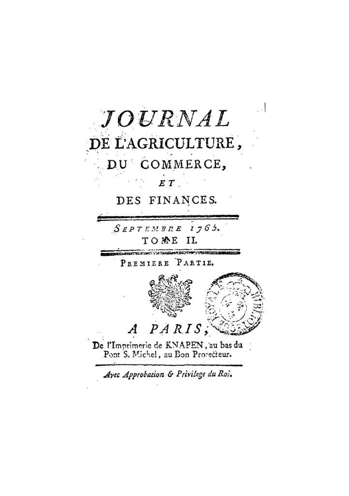 File journal de l agriculture du commerce et des finances for C du commerce