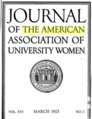 Journal of the American Association of University Women - 03-1923 cover.png