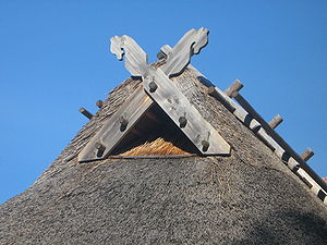 Latvian mythology - Roof decoration symbolizing Jumis