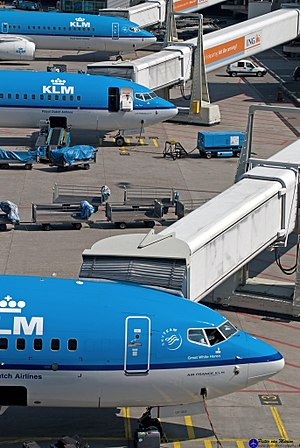 KLM destinations - KLM operations at Amsterdam Airport Schiphol.