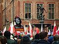 KOD manifestation in Gdansk (19.12.2015r). Promotion of Soviet symbols.JPG