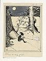 Kabouter leest een boek bij maanlicht, RP-T-2015-41-3085.jpg