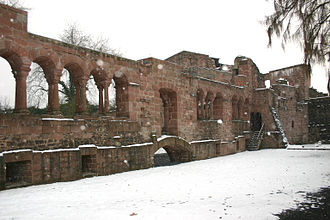 Imperial Palace, Gelnhausen - Inside face of the southern wall of the palas