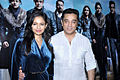 Kamal Haasan and Pooja Kumar at 'Vishwaroop' media meet.jpg