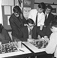 Kampioenschap jeugdschaken van Nederland te Rotterdam, winnaar Leo Kerkhoff uit , Bestanddeelnr 916-2663.jpg