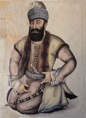Zand dynasty - Contemporary portrait of Karim Khan Zand, the founder of dynasty (1751).