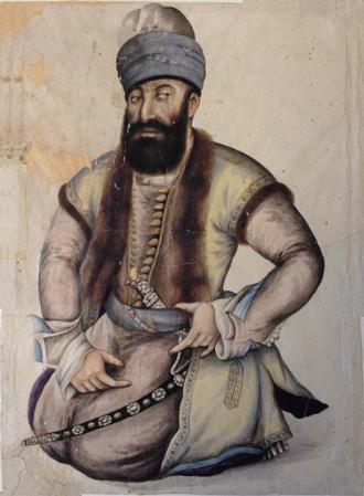 Zand dynasty - Contemporary portrait of Karim Khan Zand, the founder of dynasty (1751).