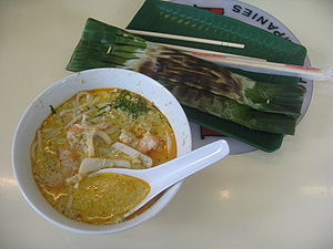 Laksa - Katong laksa and banana leaf otak-otak from Singapore