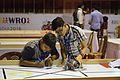 Kavish Maiydial and Jashan khandelwal Preparing His Robot - Indian National Championship - WRO - Kolkata 2016-10-22 1107.JPG