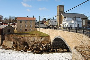 Bridges of Keeseville - Keeseville Stone Arch Bridge, built 1843