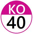 Keio KO40 station number.png