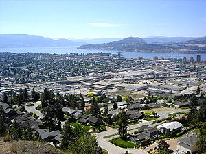 Kelowna General Hospital - View of Kelowna, British Columbia