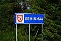 Keminmaa municipal border sign 20190801.jpg