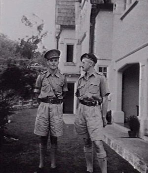 Wilfrid Kent Hughes - Lieutenant Colonel Kent Hughes (right) with his Aide de Camp Gordon Walker (left) in Kuala Lumpur, 1941