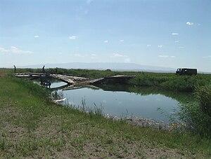 Khar Lake (Khovd) - Natural channel from Khar Lake to Dörgön Lake