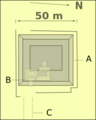 Layout drawing of a tomb