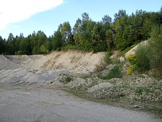 Aggregate (geology) - Gravel pit in Germany
