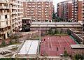 Kilátás az Oasi San Francesco katolikus kollégiumból a Via Luigi Soderini felé. Fortepan 74725.jpg