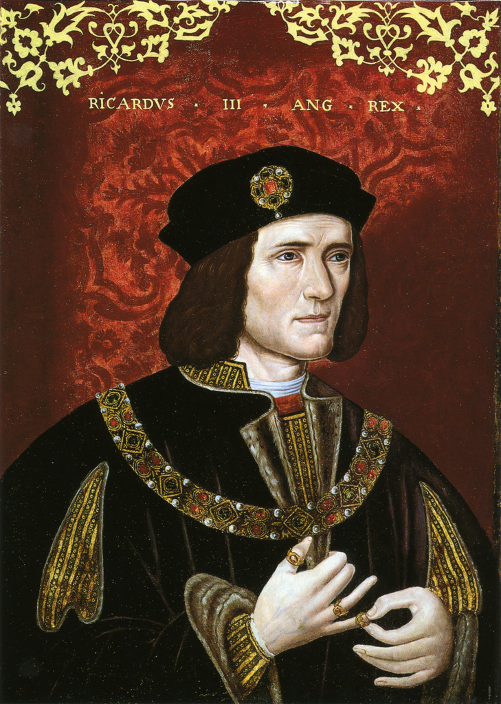Late 16th century portrait of King Richard III, housed in the National Portrait Gallery, London