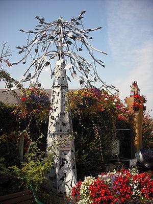 Kirkham, Lancashire - Floral display sculpture, Poulton Street