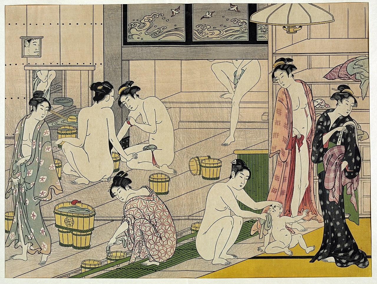 En el baño - Página 2 1280px-Kiyonaga_bathhouse_women-2