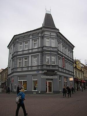 Václav Suk - Birth house of V. Suk in main street of Kladno (90 Masaryk Street).