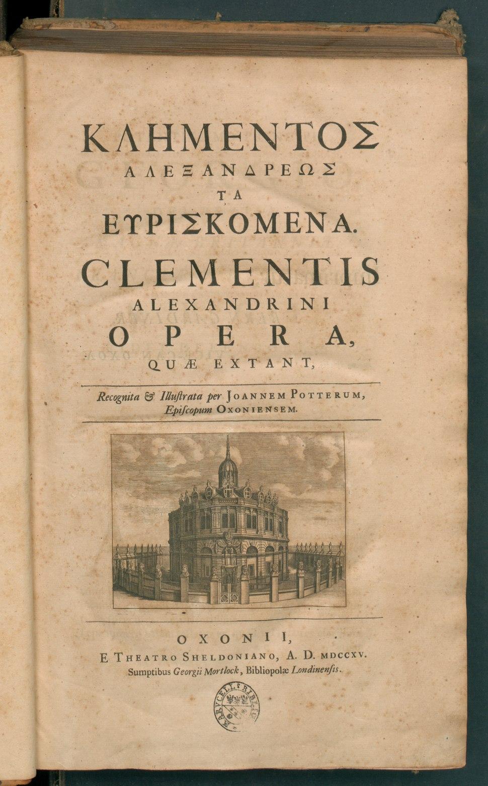 Klementos Alexandreos ta heuriskomena