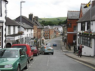 Knighton, Powys Town in the county of Powys, Wales